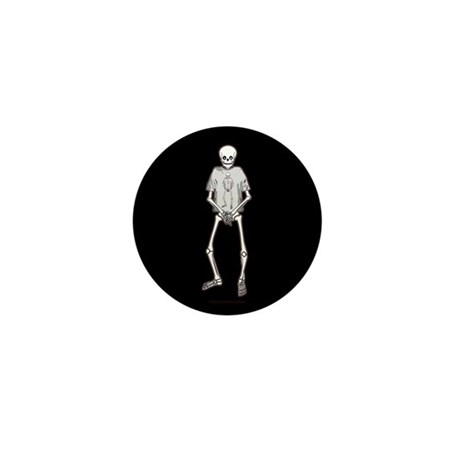 T-Shirt Skeleton Mini Button (100 pack)