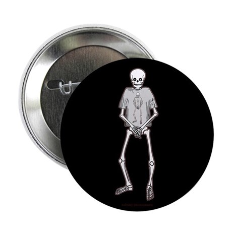 "T-Shirt Skeleton 2.25"" Button"