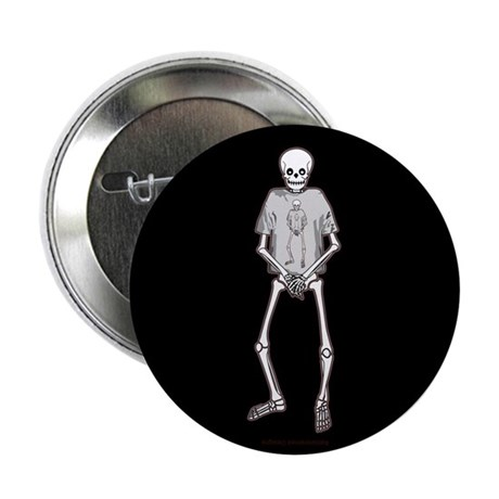 "T-Shirt Skeleton 2.25"" Button (10 pack)"