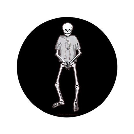 "T-Shirt Skeleton 3.5"" Button (100 pack)"
