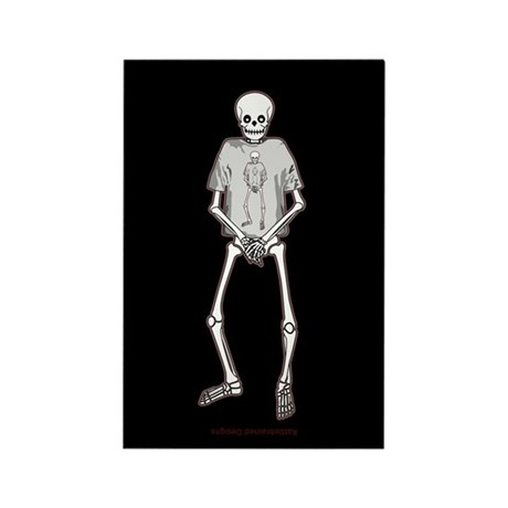 T-Shirt Skeleton Rectangle Magnet (10 pack)