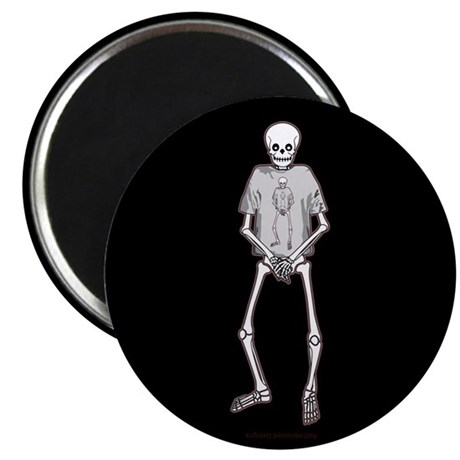 "T-Shirt Skeleton 2.25"" Magnet (10 pack)"