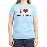 I Love White Girls Women's Pink T-Shirt
