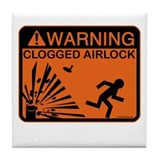 Airlock Warning Tile Coaster