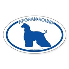 """Afghan Hound"" - Oval Decal"