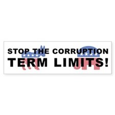 Stop Corruption - Term Limits 2 Bumper Sticker