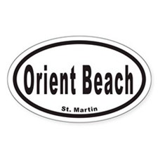 Orient Beach St. Martin Euro Oval Decal