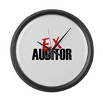 Ex Auditor Large Wall Clock