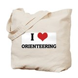 I Love Orienteering Tote Bag