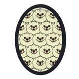 Pomeranians Oval Ornament