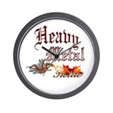 Heavy Metal Hottie Wall Clock
