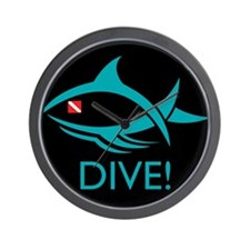 DIVE! Tribal Fish Wall Clock