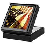 American Flag Old Keepsake Box