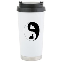 Yin Yang Yorkie Ceramic Travel Mug