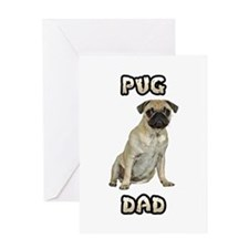 Pug Dad Greeting Card
