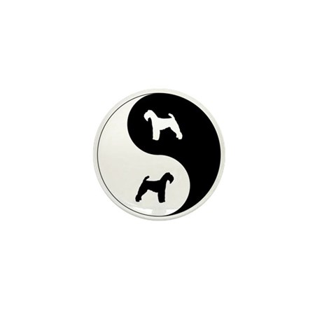 Yin Yang Welshie Mini Button