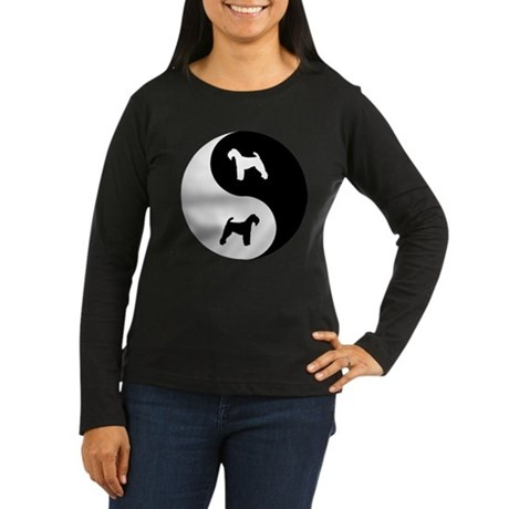 Yin Yang Welshie Women's Long Sleeve Dark T-Shirt