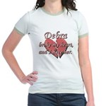 Debra broke my heart and I hate her Jr. Ringer T-S