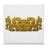 Mayan Jaguar-gold Tile Coaster