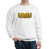 Mayan Jaguar-gold Sweatshirt