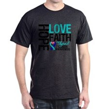 Thyroid Cancer Hope Faith T-Shirt