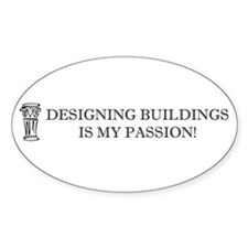 Designing Buildings Architecture Oval Decal