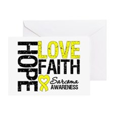 Sarcoma Hope Faith Greeting Card