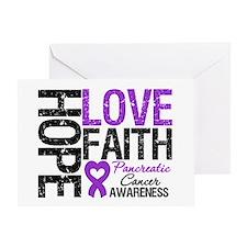 Pancreatic Cancer Faith Greeting Card