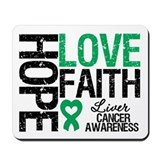 Liver Cancer Faith Mousepad