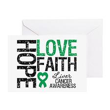 Liver Cancer Faith Greeting Card