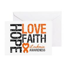 Leukemia HopeLoveFaith Greeting Cards (Pk of 20)