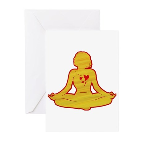 I love yoga Greeting Cards (Pk of 10)