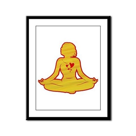I love yoga Framed Panel Print