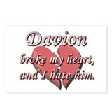 Davion broke my heart and I hate him Postcards (Pa