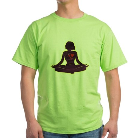 Lovely Yoga Green T-Shirt