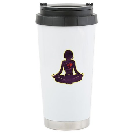 Lovely Yoga Ceramic Travel Mug