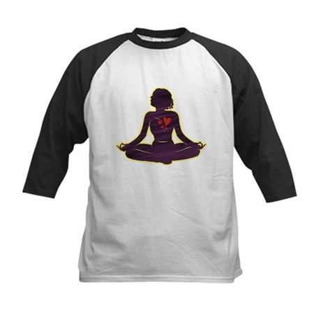 Lovely Yoga Kids Baseball Jersey
