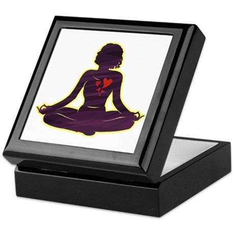 Lovely Yoga Keepsake Box