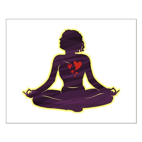 Lovely Yoga Small Poster