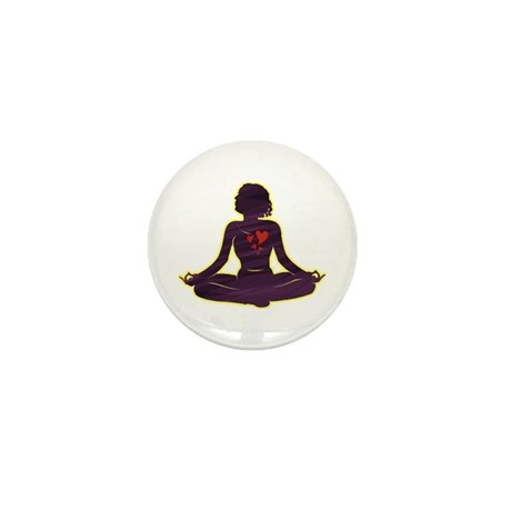 Lovely Yoga Mini Button