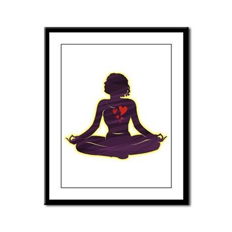 Lovely Yoga Framed Panel Print