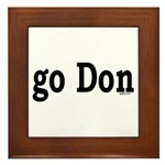 go Don Framed Tile
