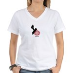 Demon Proof! Women's V-Neck T-Shirt