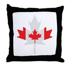 Canadian Maple Leaf Throw Pillow