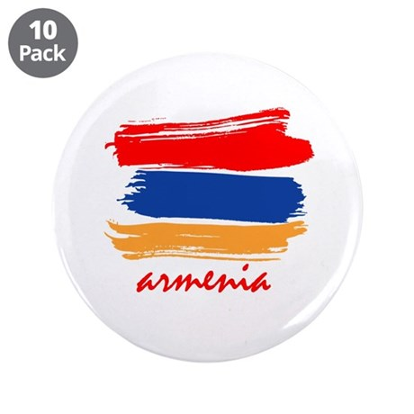 "Armenian Flag design 3.5"" Button (10 pack)"