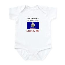 My Kansas Boyfriend Loves Me Infant Bodysuit