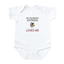 My Illinois Boyfriend Loves Me Infant Bodysuit