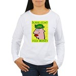 Kiss Me I'm Irish Women's Long Sleeve T-Shirt