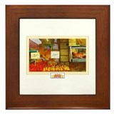 Painted Italian Fruit Stand Framed Tile