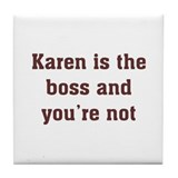 Personalized Karen Tile Coaster